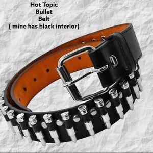 Hot top gently worn black bullet belt